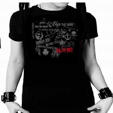 Imelda May Black Tribal Tour Ladies T-Shirt