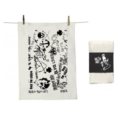 Imelda May Black & White Tea Towel