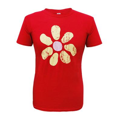 James Mens Large Flower Distressed Tour Cherry Red T-Shirt