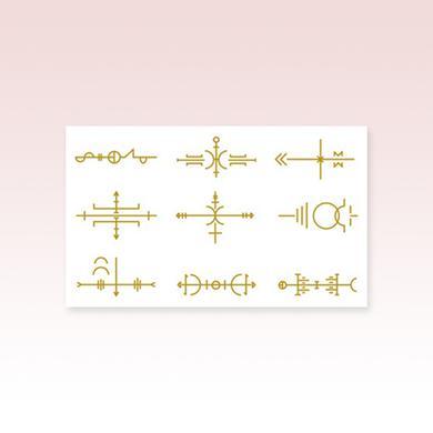 Laura Marling Metallic Gold Sigil Tattoo Sheet