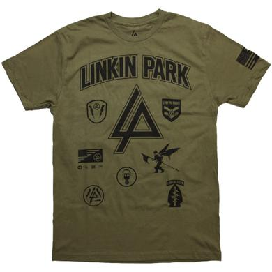 Linkin Park LP Patches Military Green Tee