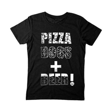 Lucy Spraggan Pizza Dogs + Beer Black T-Shirt