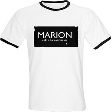 Marion Alive In Manchester White T-Shirt