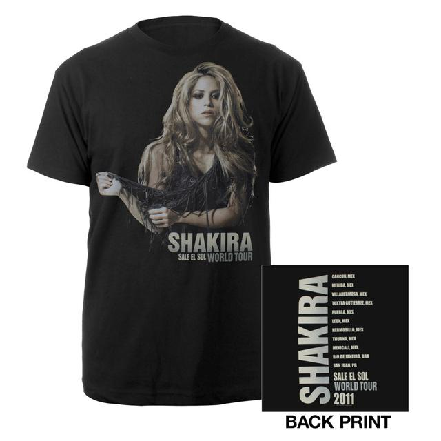 Shakira Sun Comes Out Tour Tee