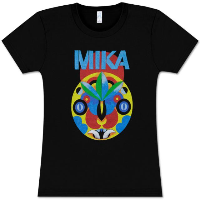 Mika Black Tribal Mask Girls Tee