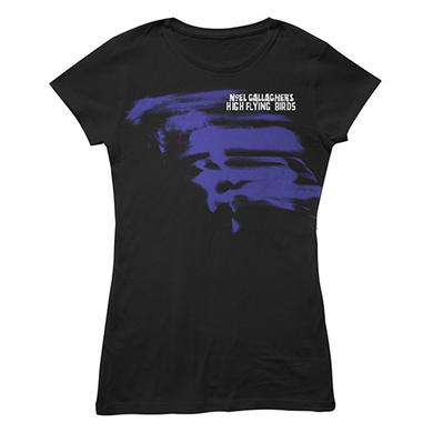 Noel Gallagher's High Flying Birds Ladies Black Blue Note T-Shirt (w/ 2016 European Tour Dates)