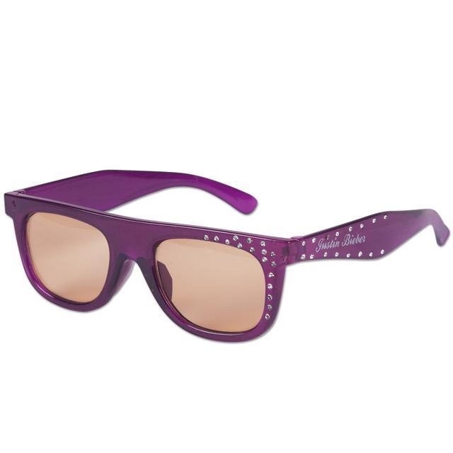 Justin Bieber Purple Glitzy Sunglasses