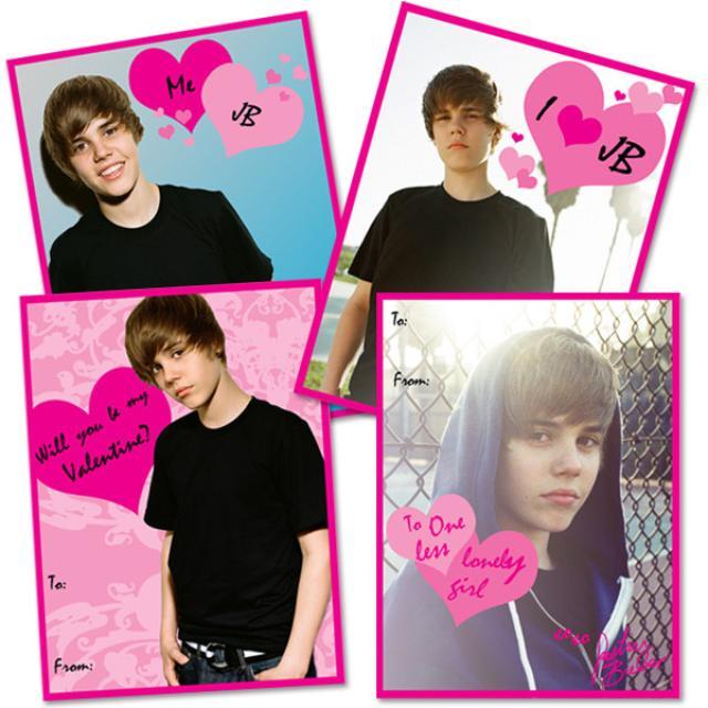 Justin Bieber Valentine's Cards