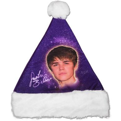 Justin Bieber Purple Santa Hat