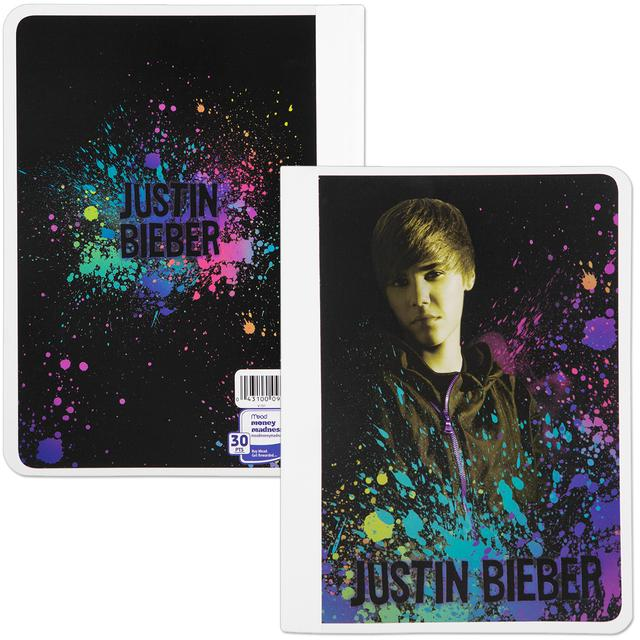 Justin Bieber Wide Ruled Composition Book - Splatter