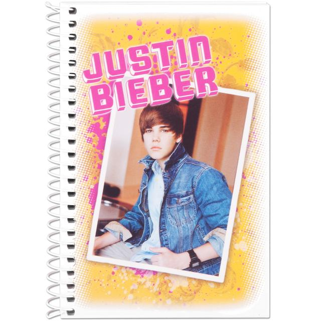 Justin Bieber College Ruled Notebook - Photo
