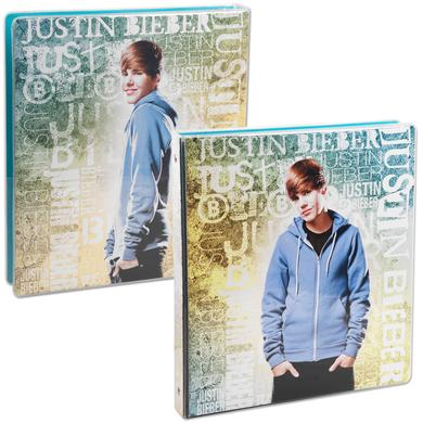 "Justin Bieber 1"" Heat Sealed Binder - Print"