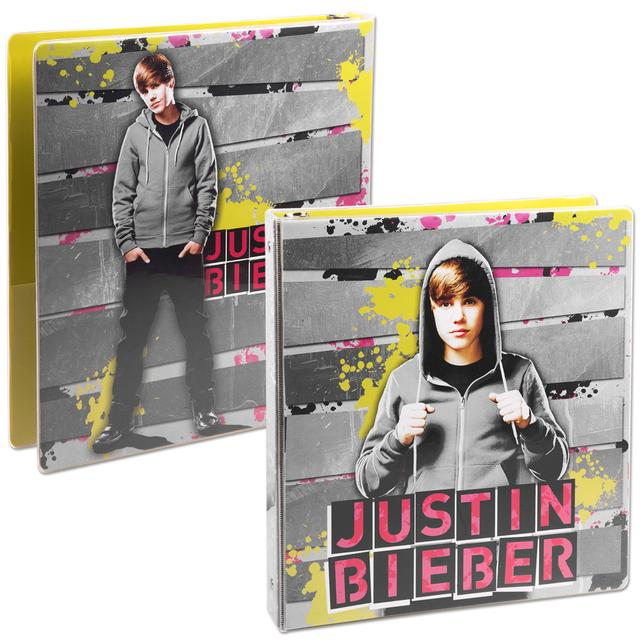"Justin Bieber 1"" Heat Sealed Binder - Hoodie"