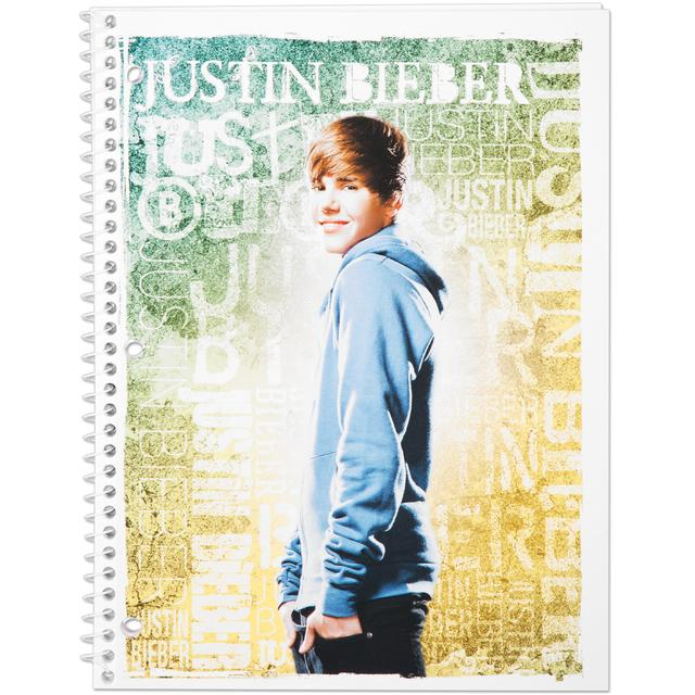 Justin Bieber Notebook 70 Count WR - Print
