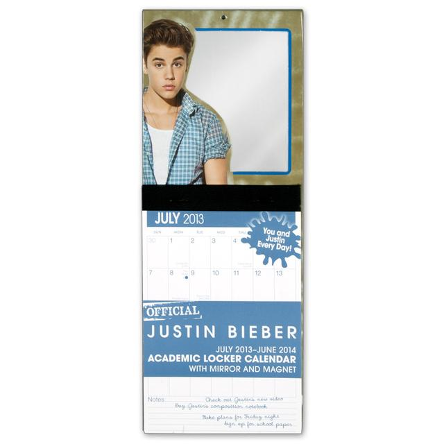 Justin Bieber Official Academic Locker Calendar