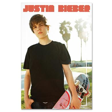 Justin Bieber Skateboard Poster