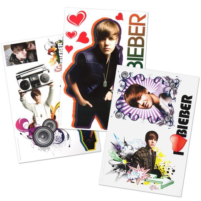 "Justin Bieber 11x17"" Decal Sticker Pack"