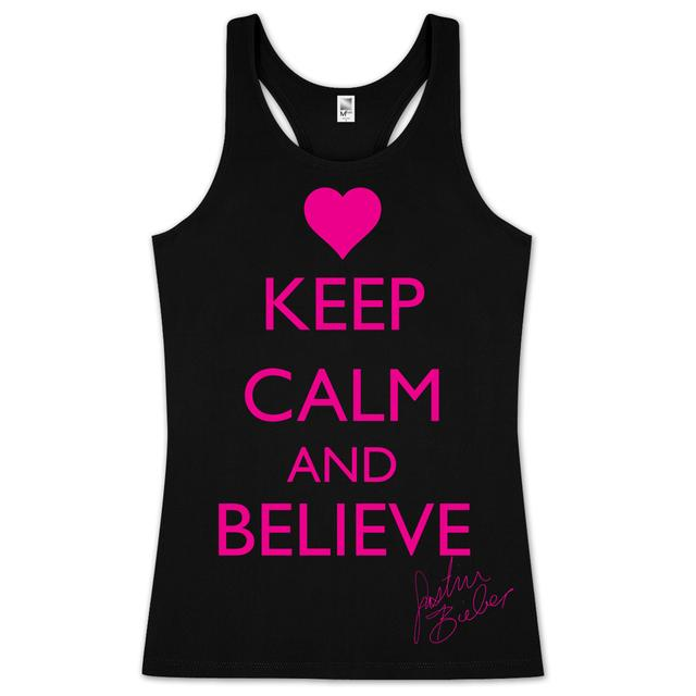 Justin Bieber Keep Calm and Believe Juniors Tank