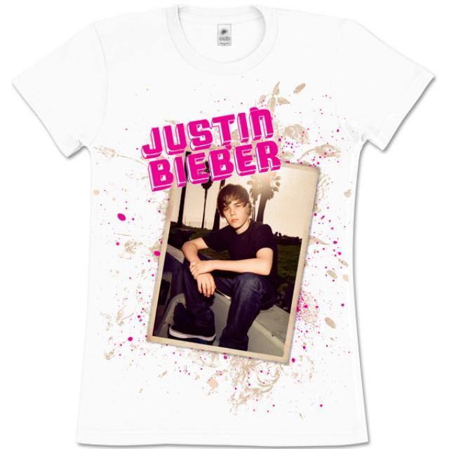Justin Bieber Bench Girls White T-Shirt