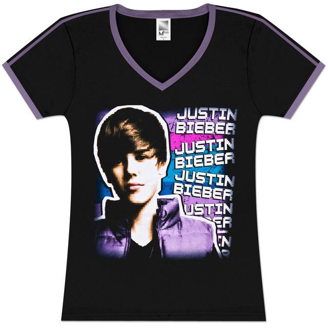 Justin Bieber Pixel Girlie Soccer T-Shirt