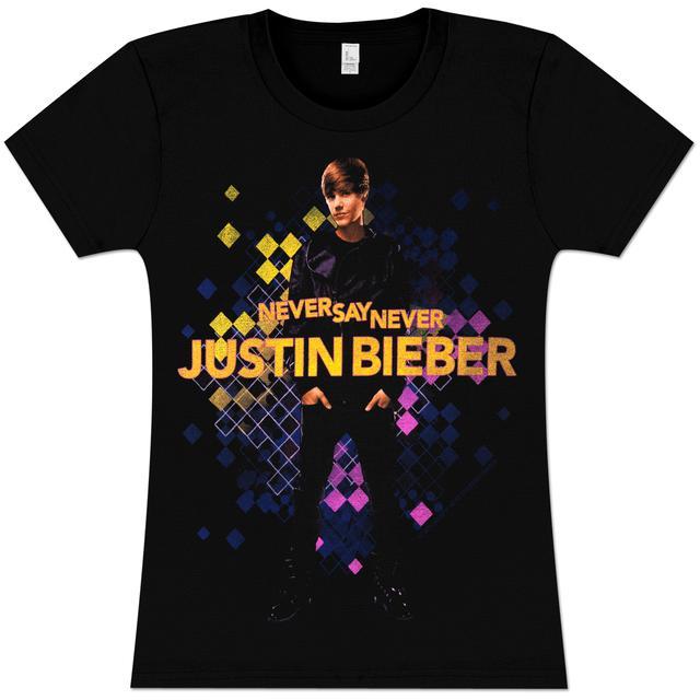 Justin Bieber Color Cells Girlie T-Shirt