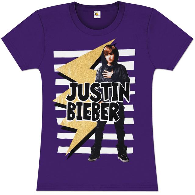 Justin Bieber Bolt Girlie T-Shirt