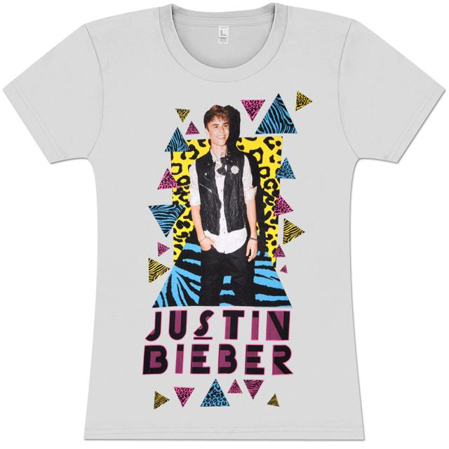 Justin Bieber Leopard Triangles Girlie T-Shirt