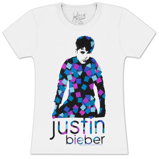 Justin Bieber Squares Girlie T-Shirt