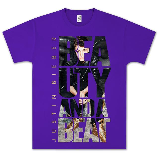 Justin Bieber Beauty Beat Photo T- Shirt
