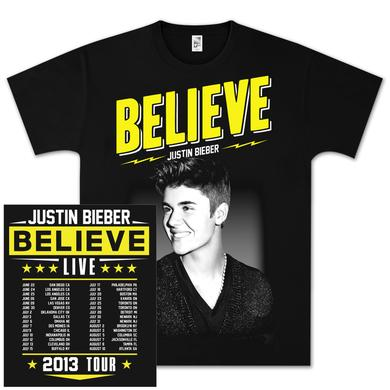 Justin Bieber Believe Live Tour T-Shirt
