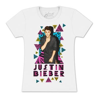 Justin Bieber Leopard Triangles Girls T-Shirt