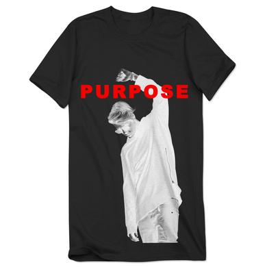Justin Bieber Black Tee | Purpose Album