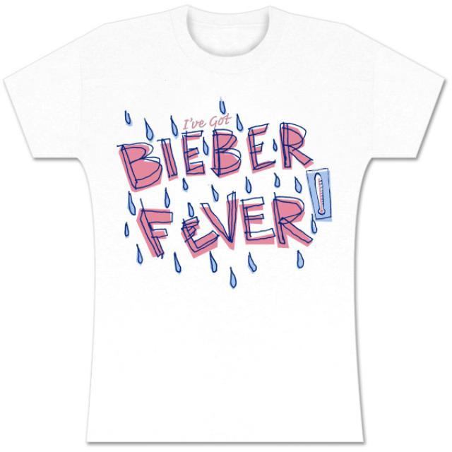 Justin Bieber Fever White Girls T-Shirt