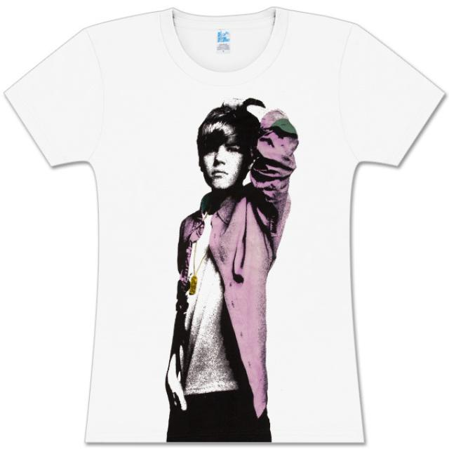 Justin Bieber White Photo Sketch Babydoll