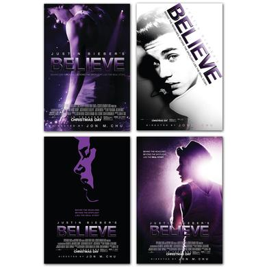 Justin Bieber Four Print Art Bundle