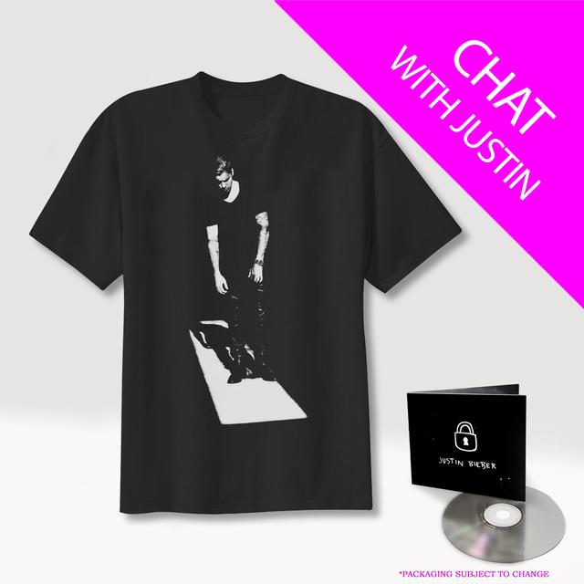 Justin Bieber Q&A with JB + CD + T-Shirt