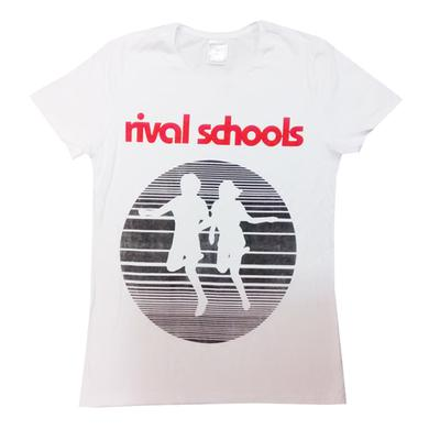 Rival Schools Ladies Logo White T-Shirt (Regular Fit)