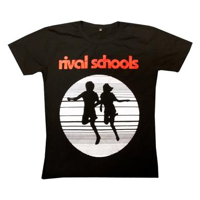 Rival Schools Ladies Logo Black T-Shirt (Regular Fit)