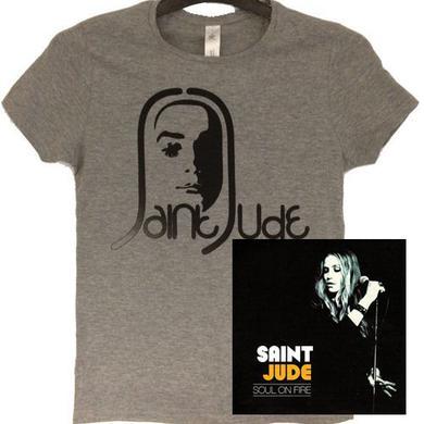 Saint Jude Ladies Face Grey
