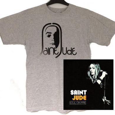 Saint Jude Mens Face Grey