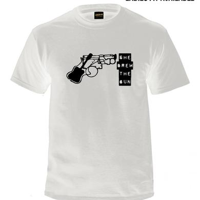 SHE DREW THE GUN White Logo T-Shirt