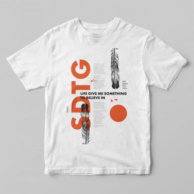 SHE DREW THE GUN Poem Orange On White T-Shirt