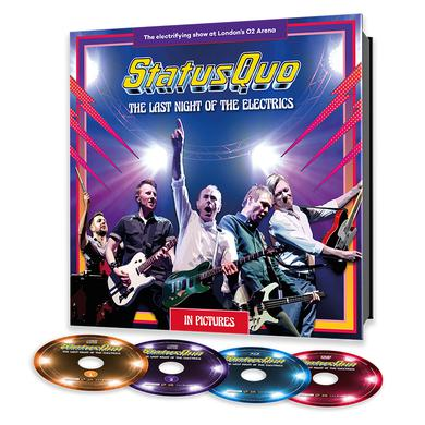 Status Quo The Last Night Of The Electrics (W/ Personalised Signed Certificate Exclusive Ltd. earBOOK with 2CD, DVD, Blu-ray) CD Collector's Pack