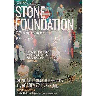 Stone Foundation Street Rituals Signed Poster - Liverpool O2 Academy 2017