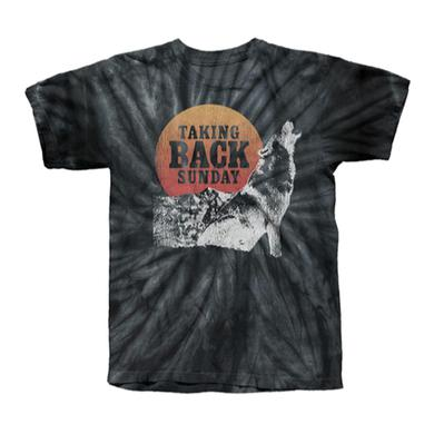 Taking Back Sunday Black Spiral Wolf Tie Dye T-Shirt