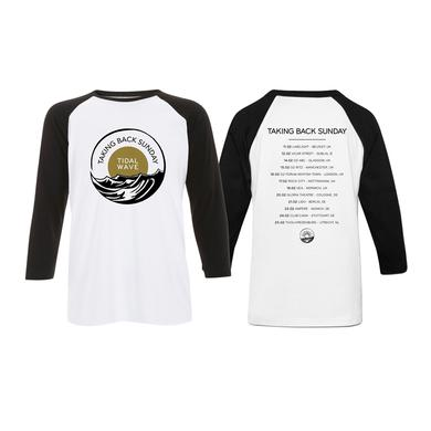 Taking Back Sunday White/Black Logo Tour Baseball T-Shirt