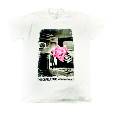 The Charlatans Mens White Faded Rose T-Shirt