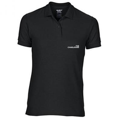 The Charlatans Womens Black Logo Polo Shirt