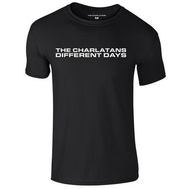 The Charlatans Different Days Black Mens T-Shirt