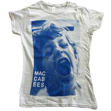 The Maccabees Women's Grey and Navy Felix T-shirt